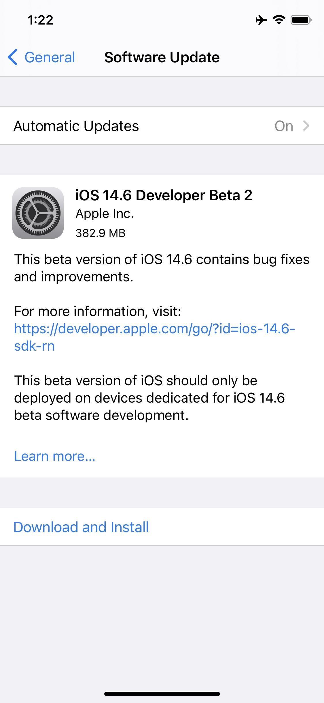 Apple Releases iOS 14.6 Developer Beta 2 for iPhone