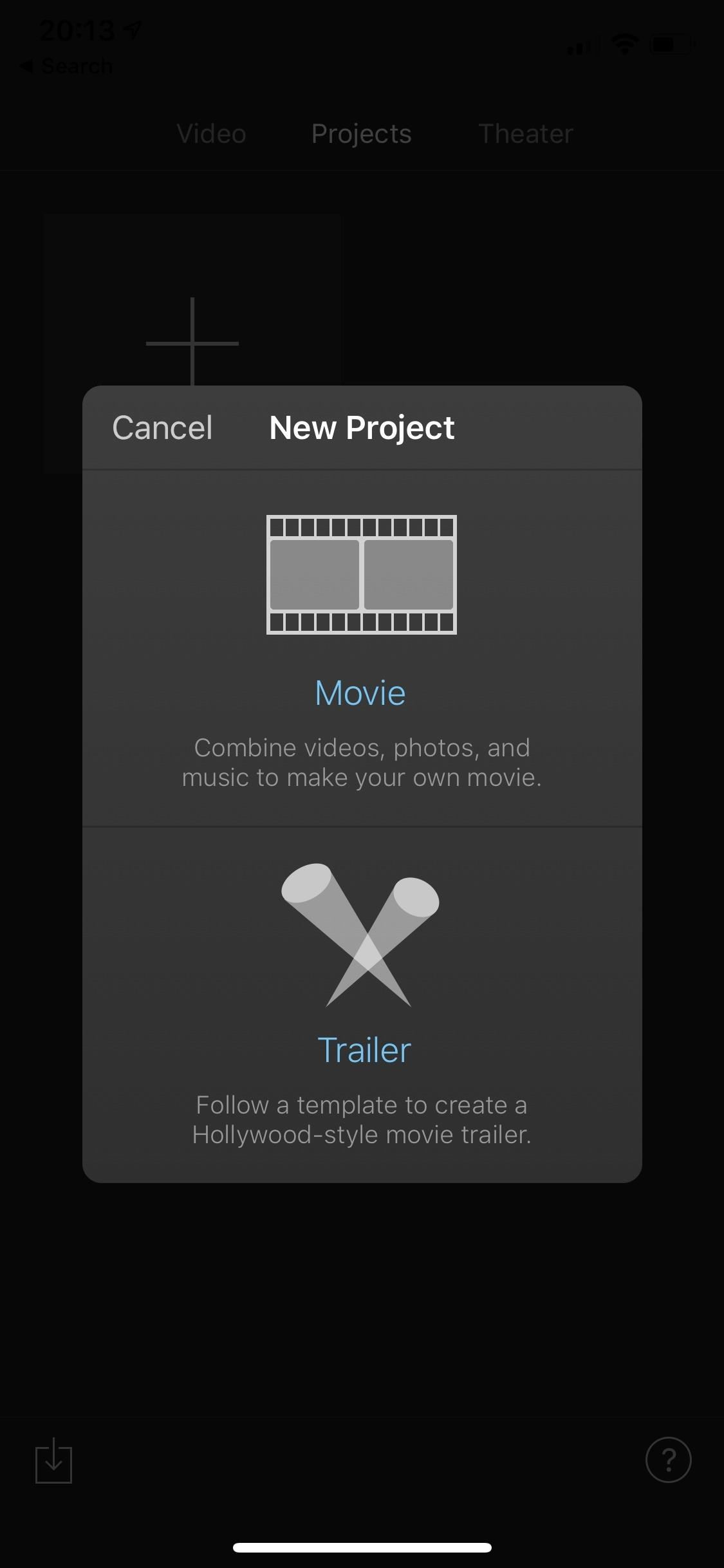 How to Create a New Movie Project in iMovie on Your iPhone