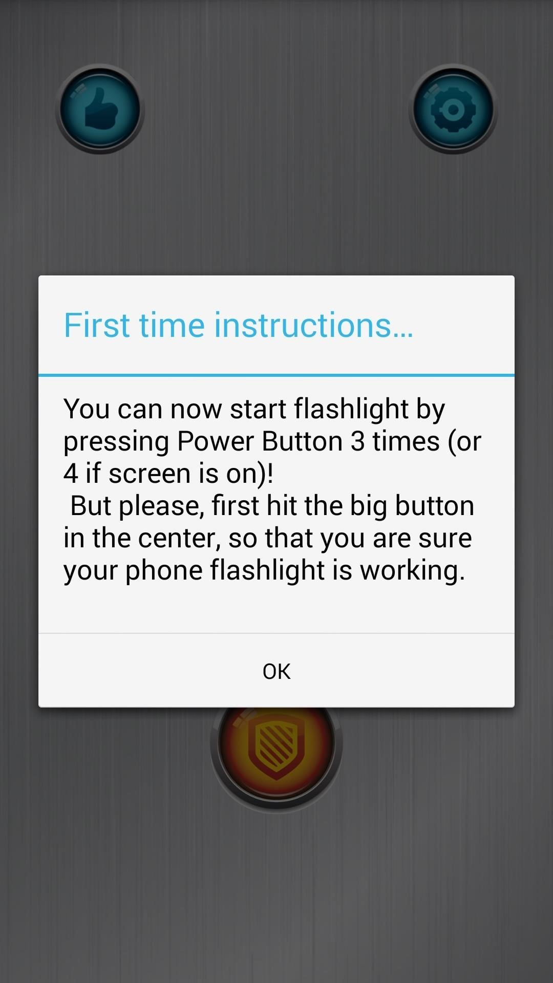 Turn On Your Androids Flashlight Using The Power Button Samsung Soft Start For Flash Lights Step 2activate Service