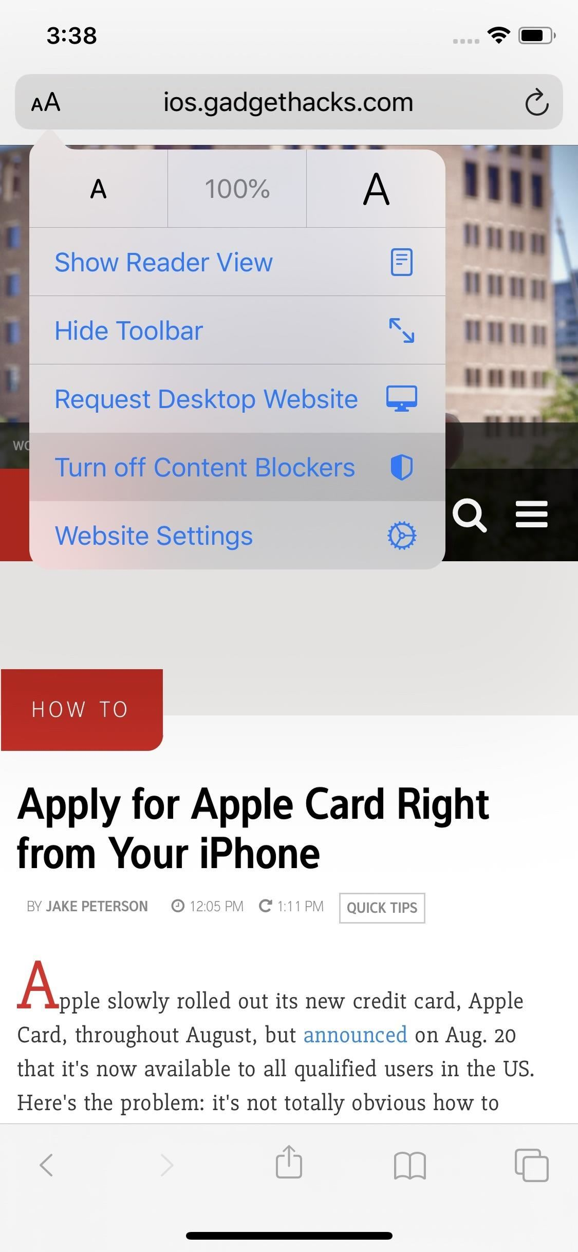 iOS 13 Makes It Easier to Disable Content Blockers for Specific Websites in Safari