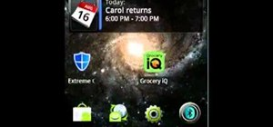 Password protect an Android OS 2.2 Motorola Droid smartphone (Froyo)