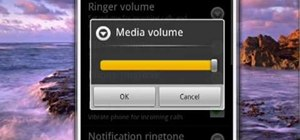 Set the media volume on your Android phone