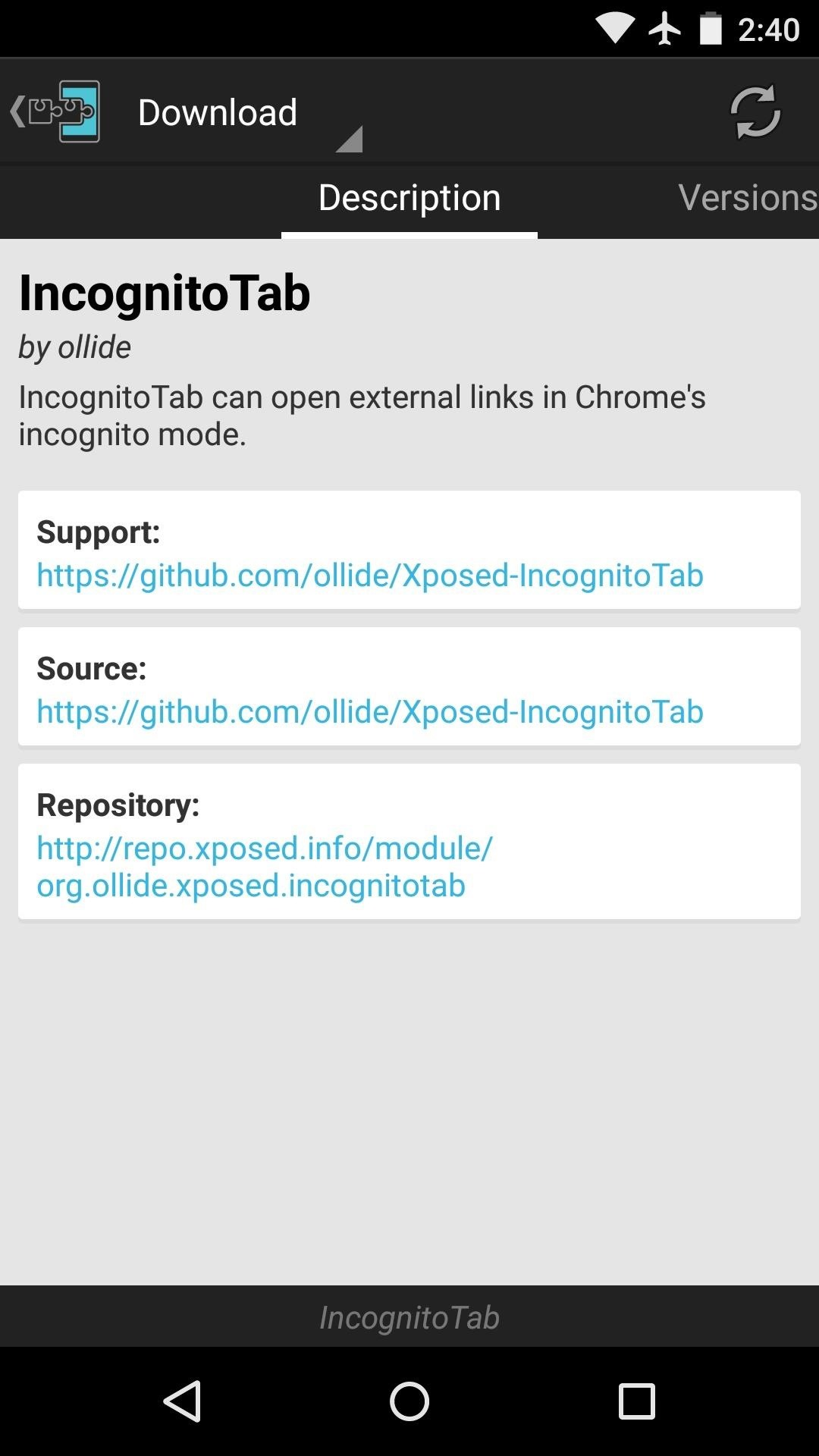 open incognito tab chrome