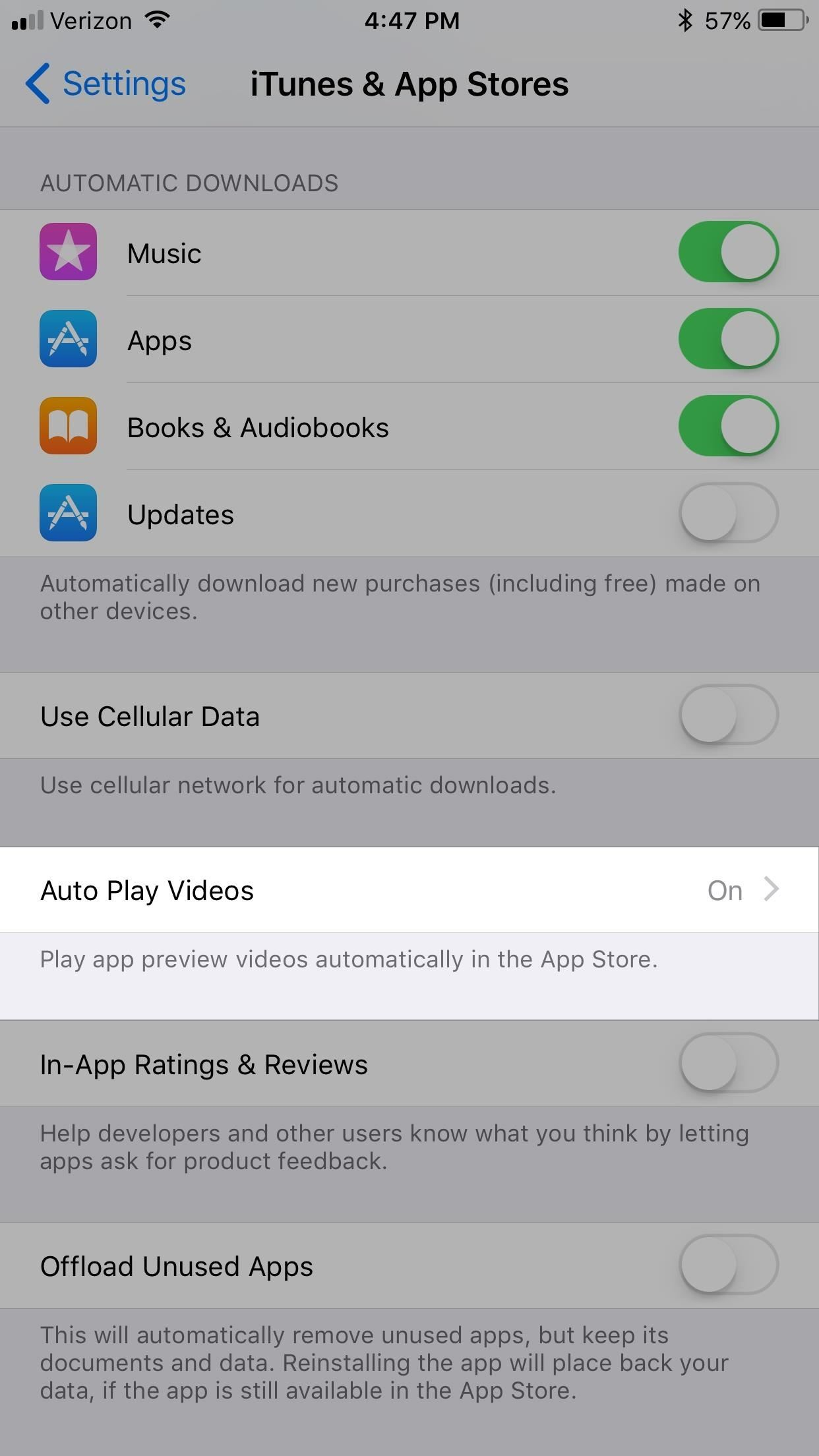 How to Disable Auto-Playing Videos in the iOS 11 App Store