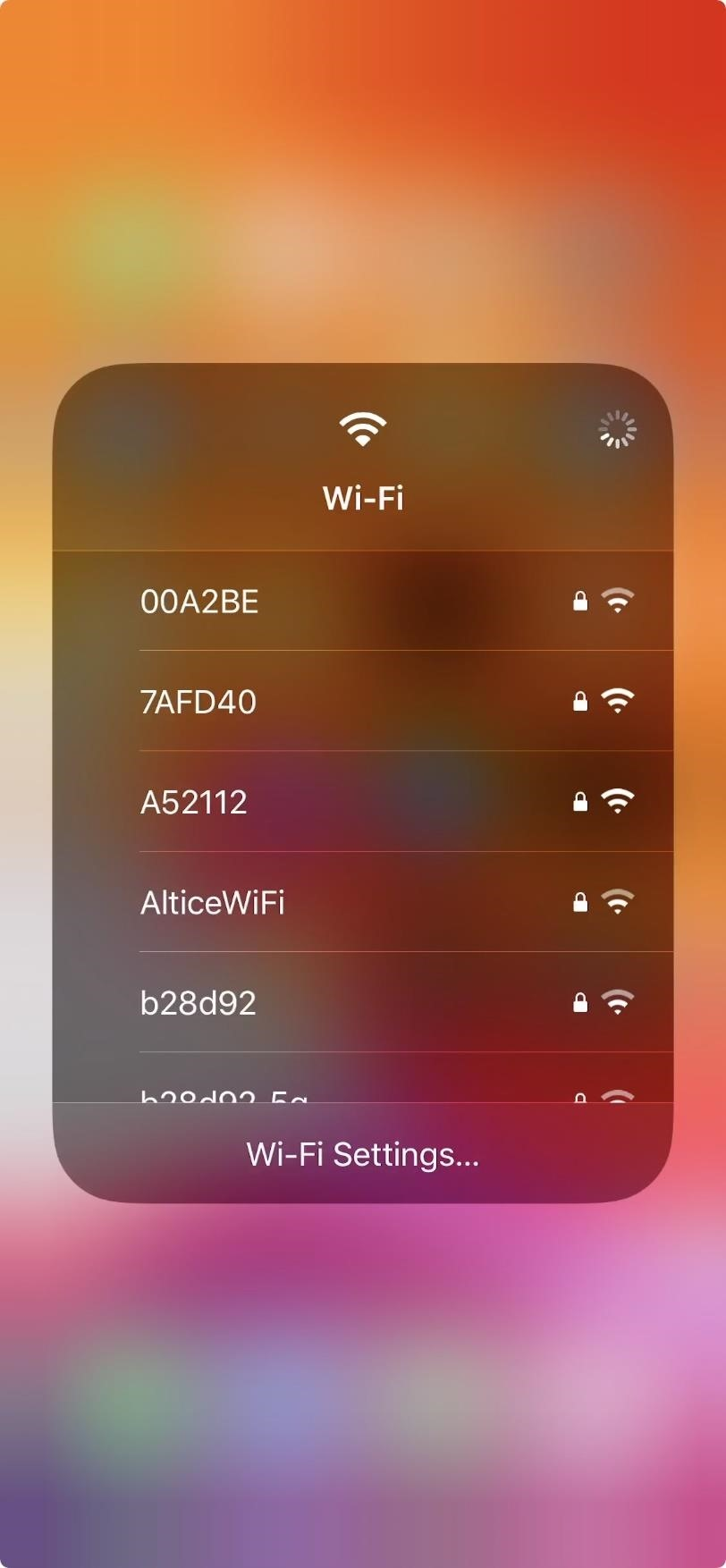 You do not need to open the settings to switch to Wi-Fi and connect to your iPhone (FINALLY!)!