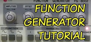 Use a function generator to make waveforms for electronics projects