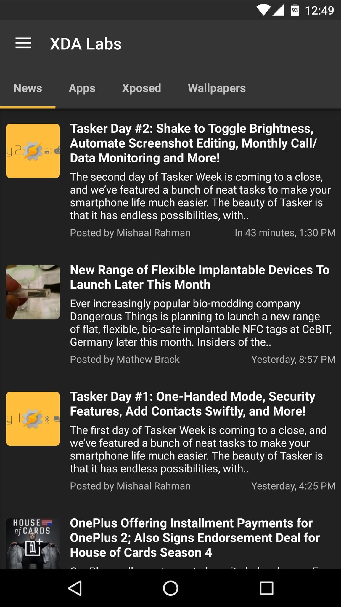 from here the news tab will show you articles about android development which can often be a good way to learn about cool new concepts
