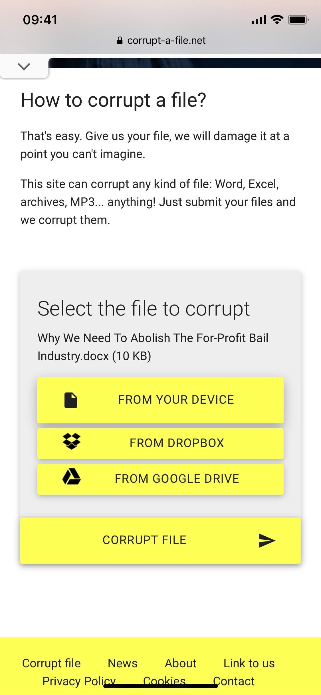Need More Time on a Work Assignment or School Project? Corrupt Your Files to Extend Your Deadline Without Question