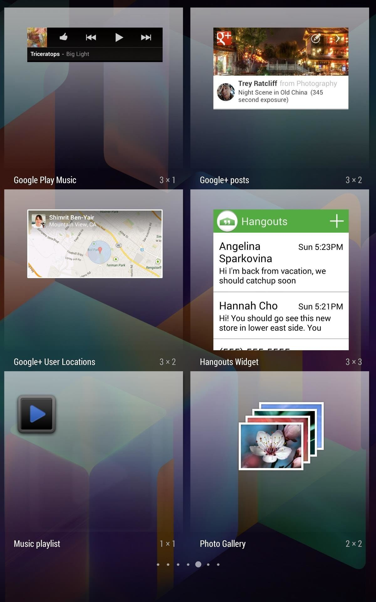 How to Preview New Google Hangout Messages Right from the Home Screen on Your Nexus 7