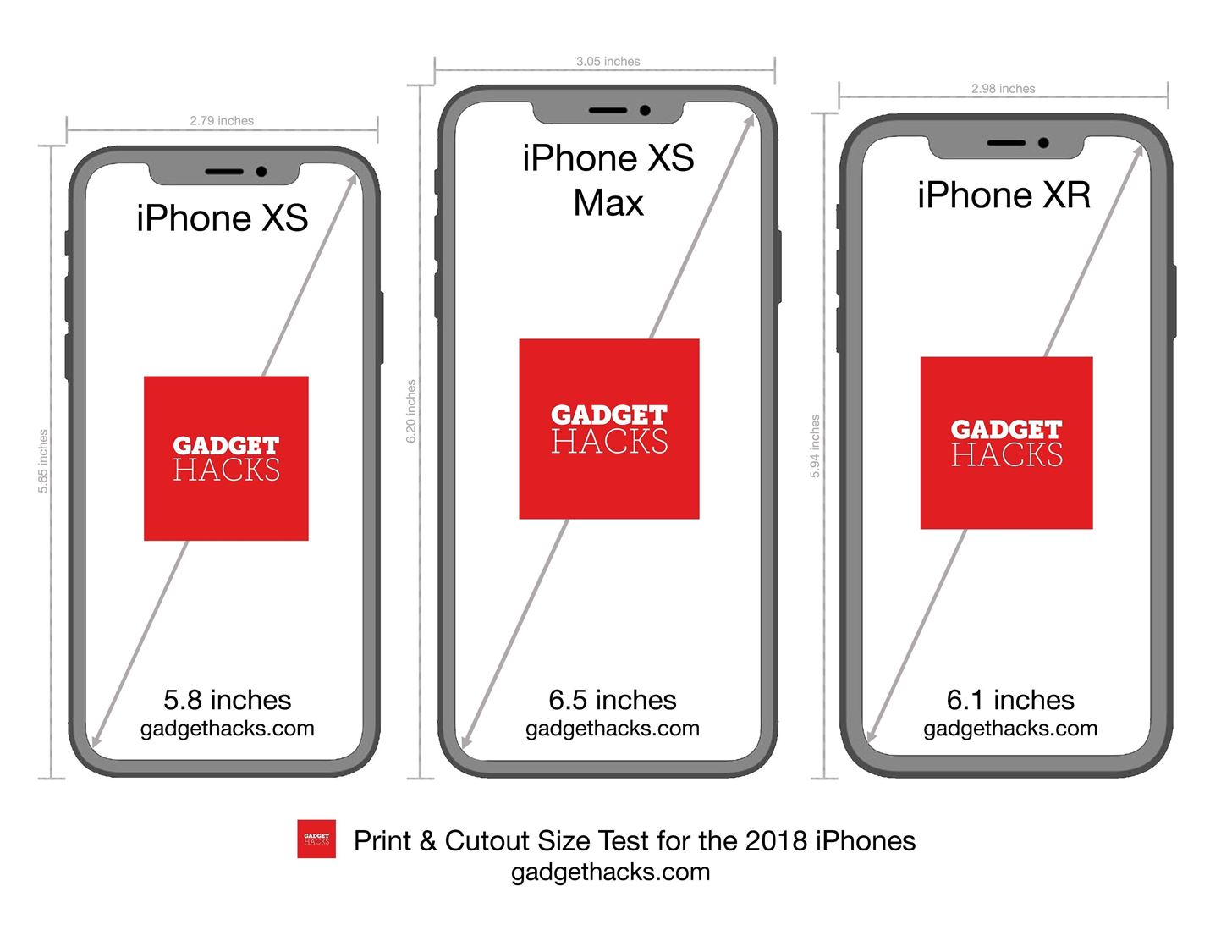 Print These iPhone XR, XS & XS Max Cutouts to See Which Size Is Right for You