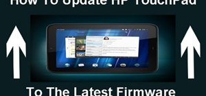 Update an HP TouchPad tablet to the latest version of webOS