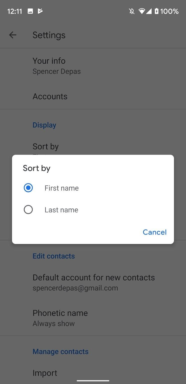 How to Sort Contacts by Last Name on Your Google Pixel