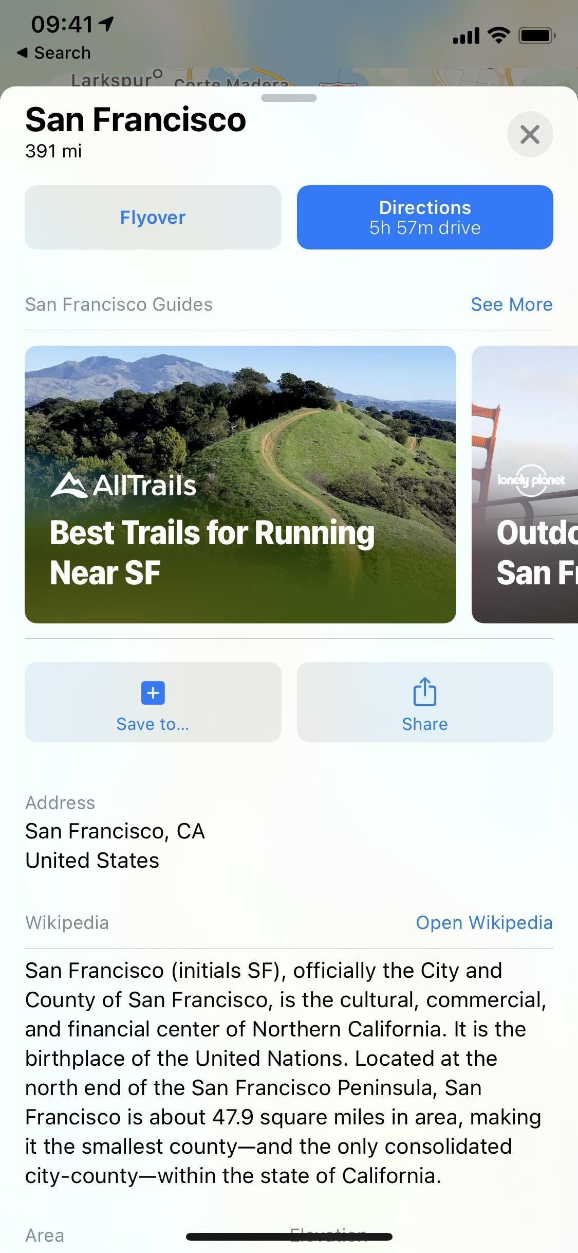 See nearby brand recommendations via curated city guides in iOS 14's Apple Maps