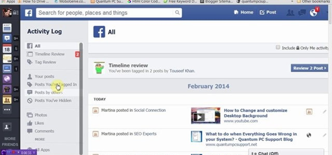 How To View And Delete Facebook Search History « Internet