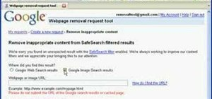 Remove an inappropriate webpage or image from Google