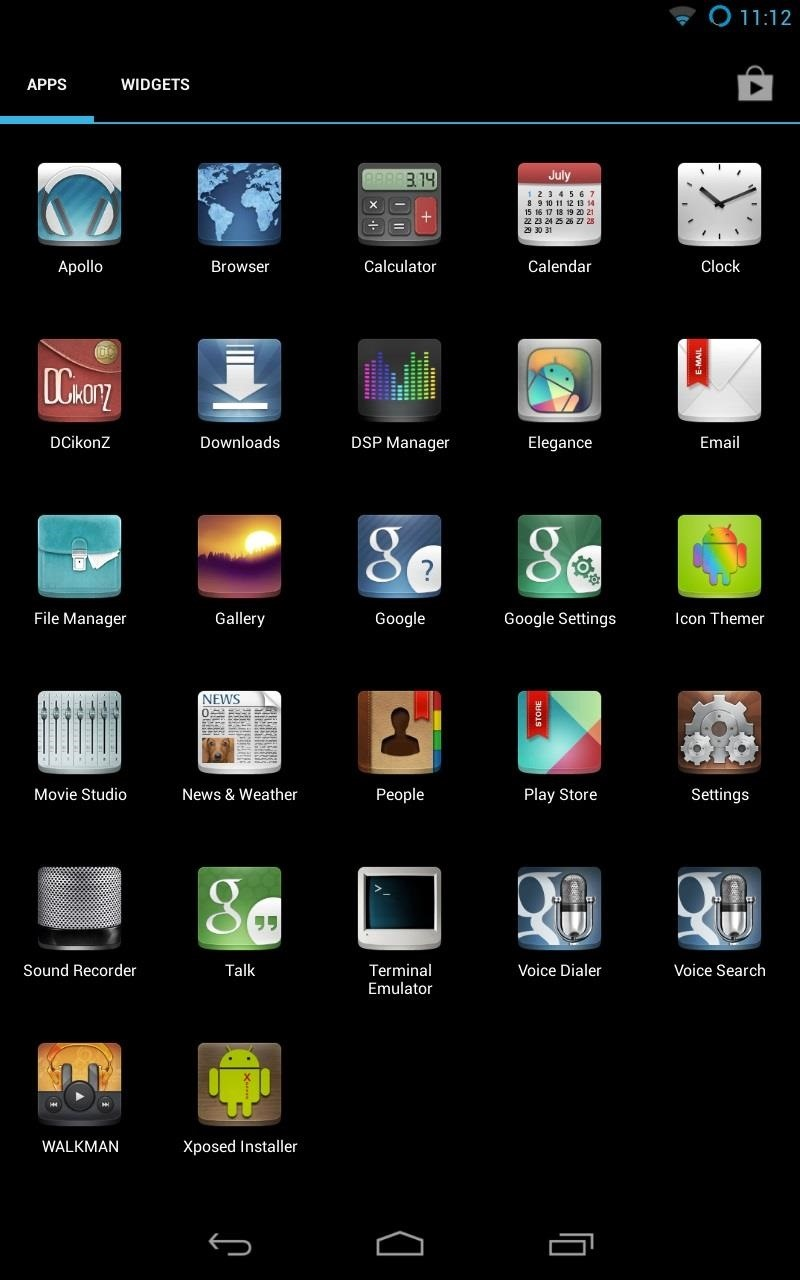 How to Customize the Android App Icons on Your Nexus 7 Tablet with Free Themes