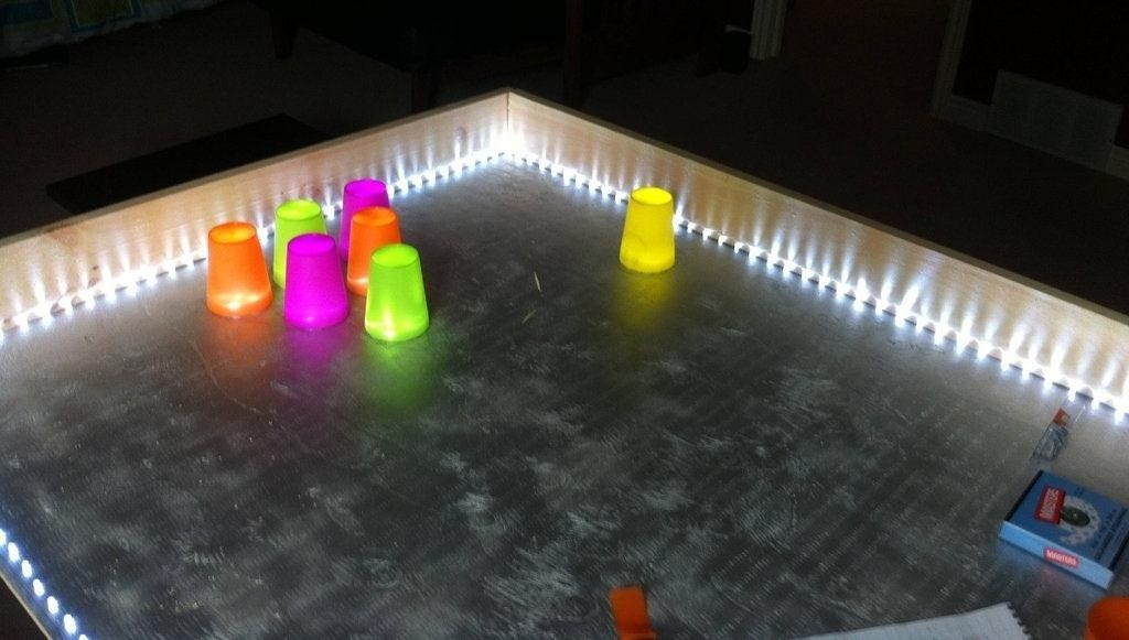 Light Up Your Next Party with This DIY LED Beer Pong Table That Dances to the Music