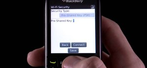 Connect to a nearby WiFi network on a BlackBerry Pearl 3G phone