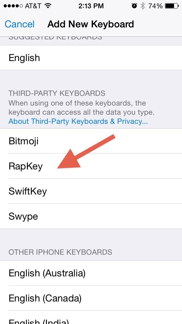 Reply to Messages with Your Favorite Rap Lyrics Using RapKey for iPhone