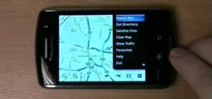 Use Google Maps with the Blackberry Storm 9500