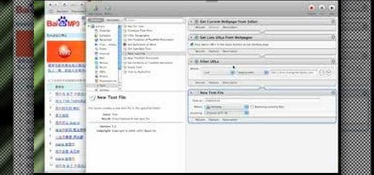 How to Use the Mac OS X automator to download Internet files