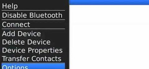Share contact information over Bluetooth on a BlackBerry smartphone