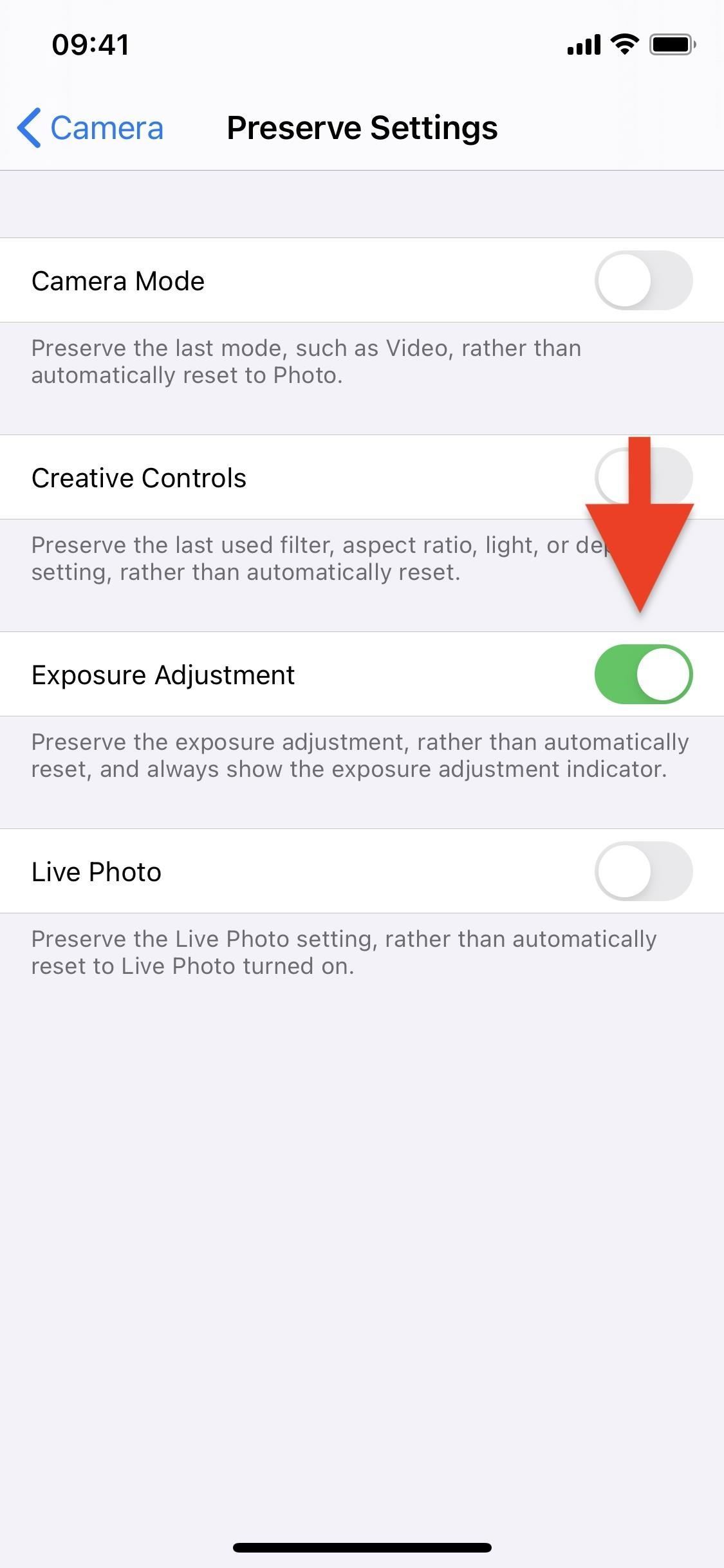 How to Make Your iPhone Remember Your Last Used Exposure Compensation Value in Camera