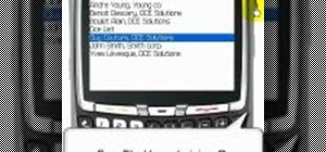 Create new contacts in a BlackBerry 8700 address book