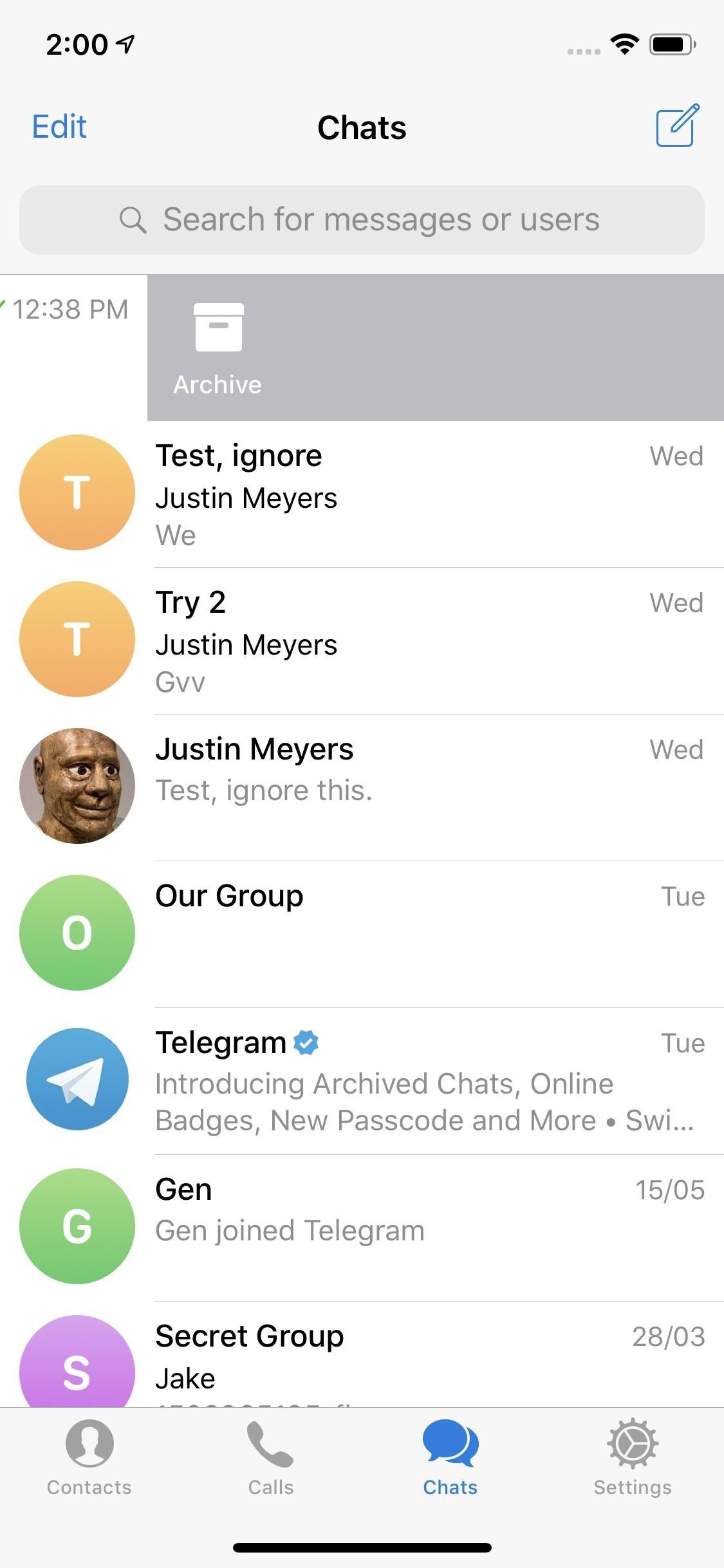 How To ... Archive Telegram Calls to Keep Your Main Chat List Clear