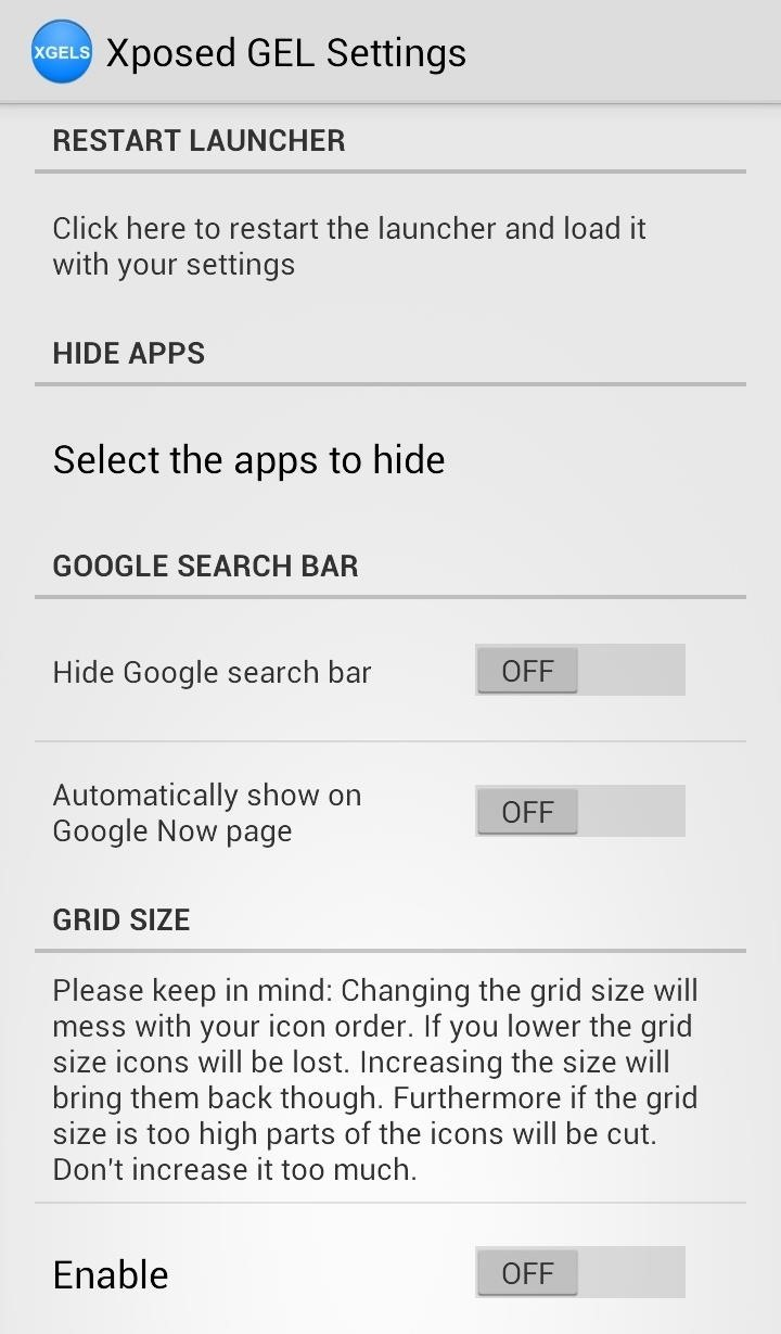 You Can Toggle The Persistent Search Bar, Change Up The Grid Size Of The  Home