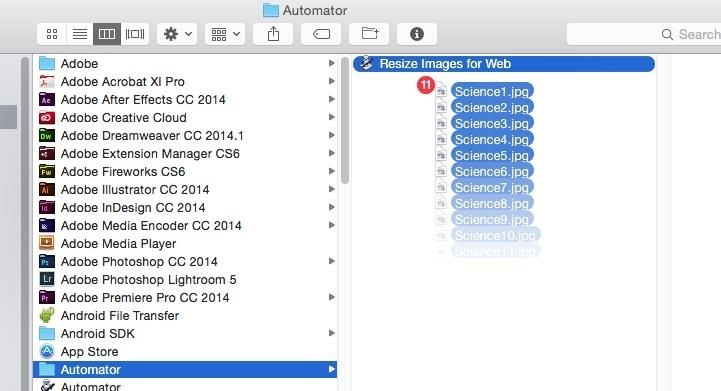 Easily Resize Images for the Web with This Drag & Drop Automator Action