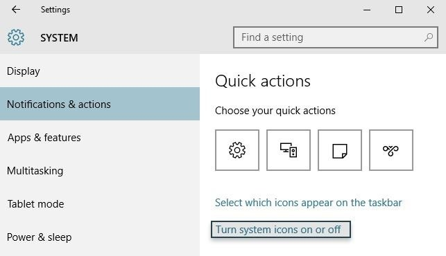 How to Hide System Tray Icons on Windows 10 « Windows Tips