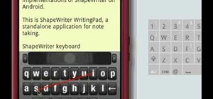 Use ShapeWriter for fast texting on your Android phone