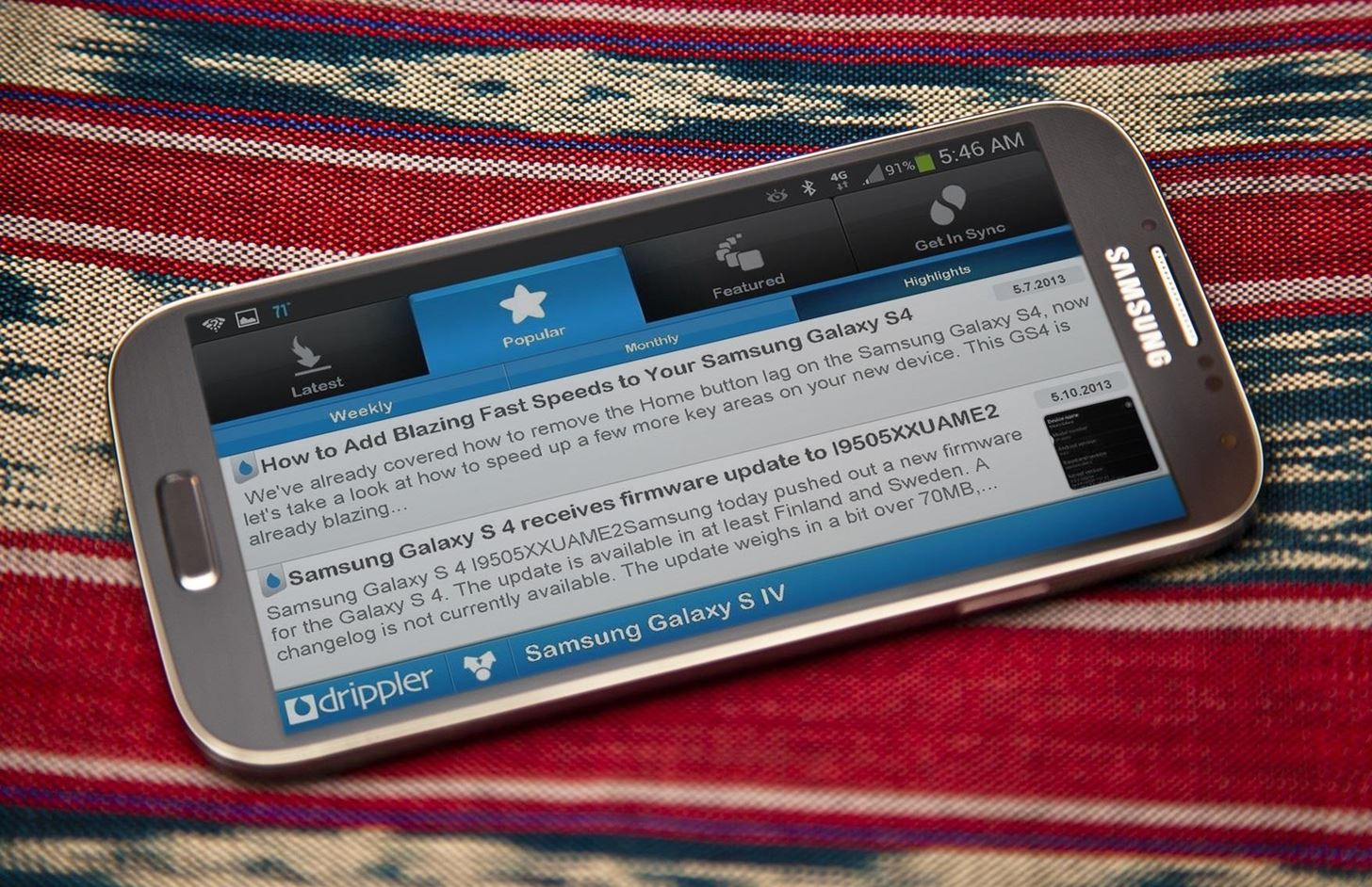 How to Stay Updated on All the Latest News for Your Samsung Galaxy S4 with Drippler