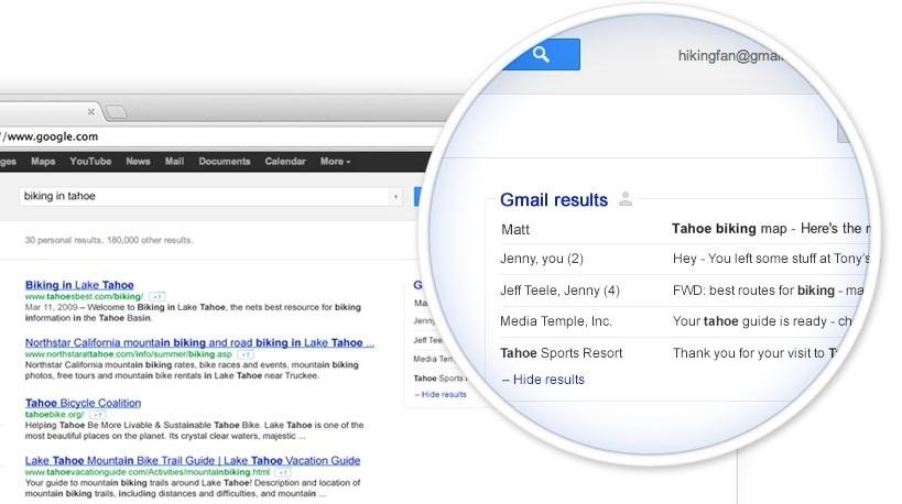 How to Add Your Gmail Inbox to Your Google Search Results