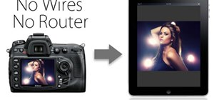 Wirelessly tether an Apple iPad to a digital camera