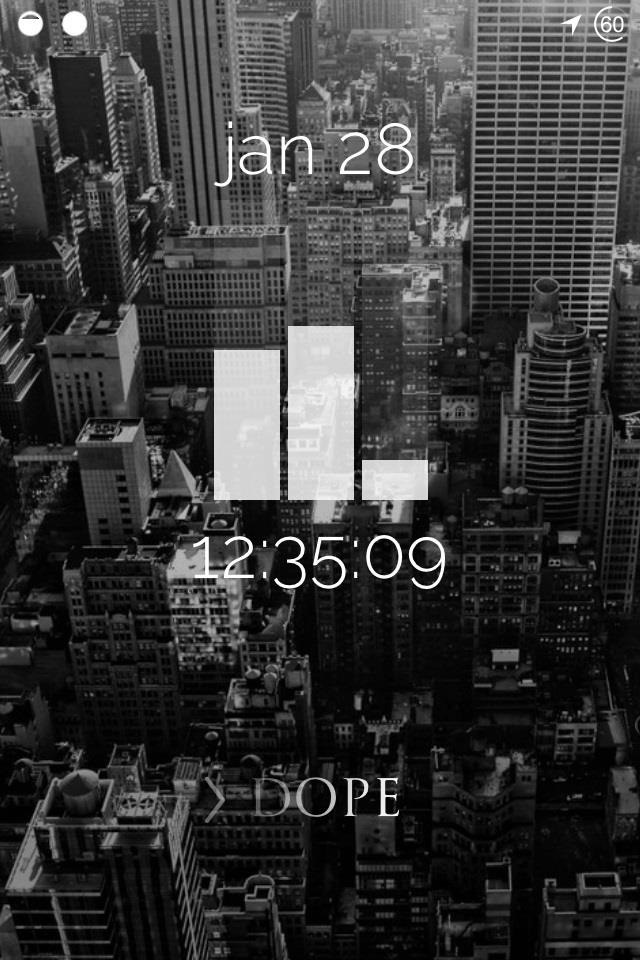 How to Theme the iOS 7 Lock Screen on Your iPhone with Sleek, Rising Time Bars