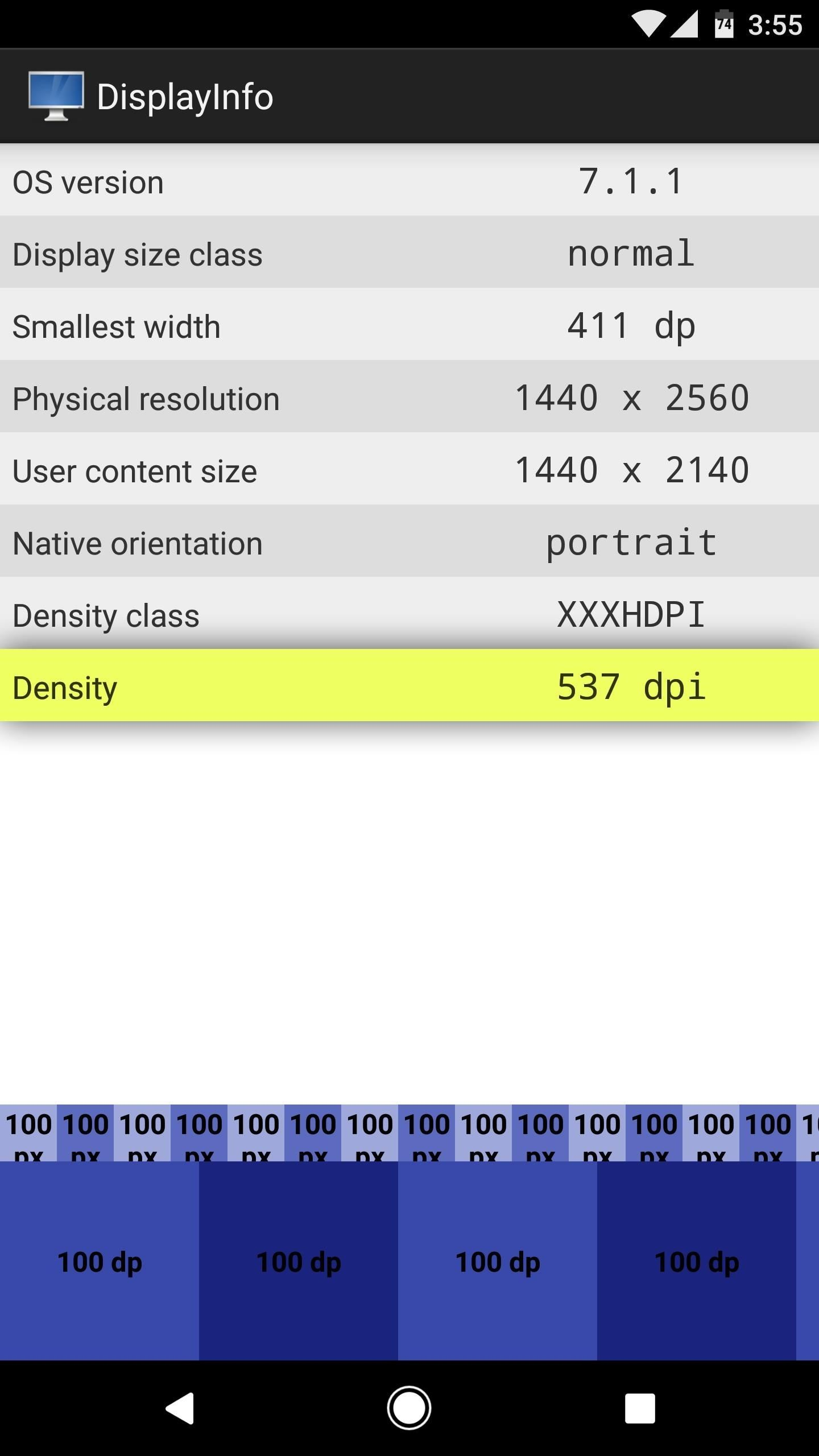 Android Basics: How to Find Your Phone's Screen Density Value (320 DPI, 480 DPI, 640 DPI, Etc.)
