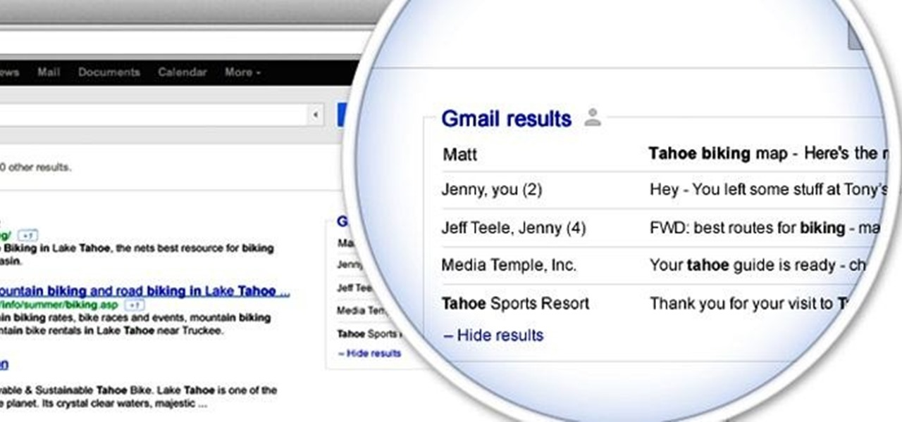 Add Your Gmail Inbox to Your Google Search Results
