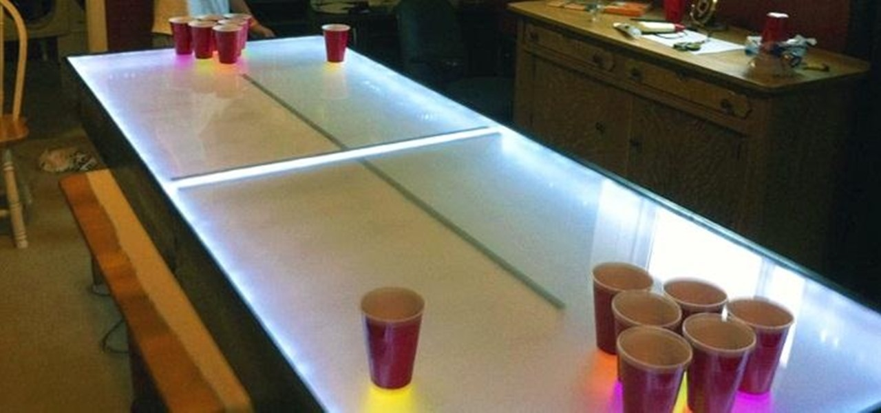 Light Up Your Next Party with This DIY LED Beer Pong Table