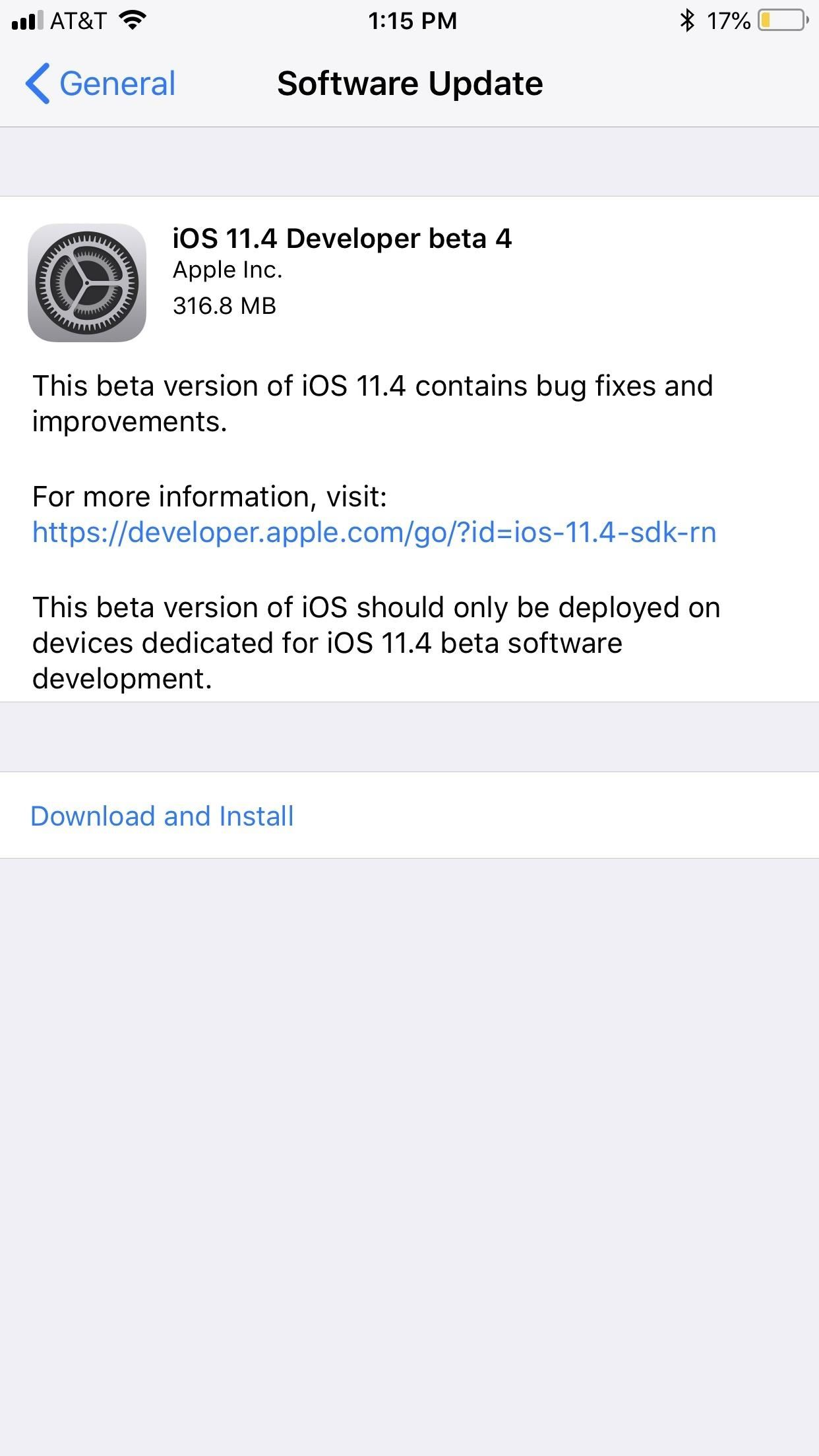 iOS 11.4 Beta 4 Released for iPhone with Mostly Under-the-Hood Improvements