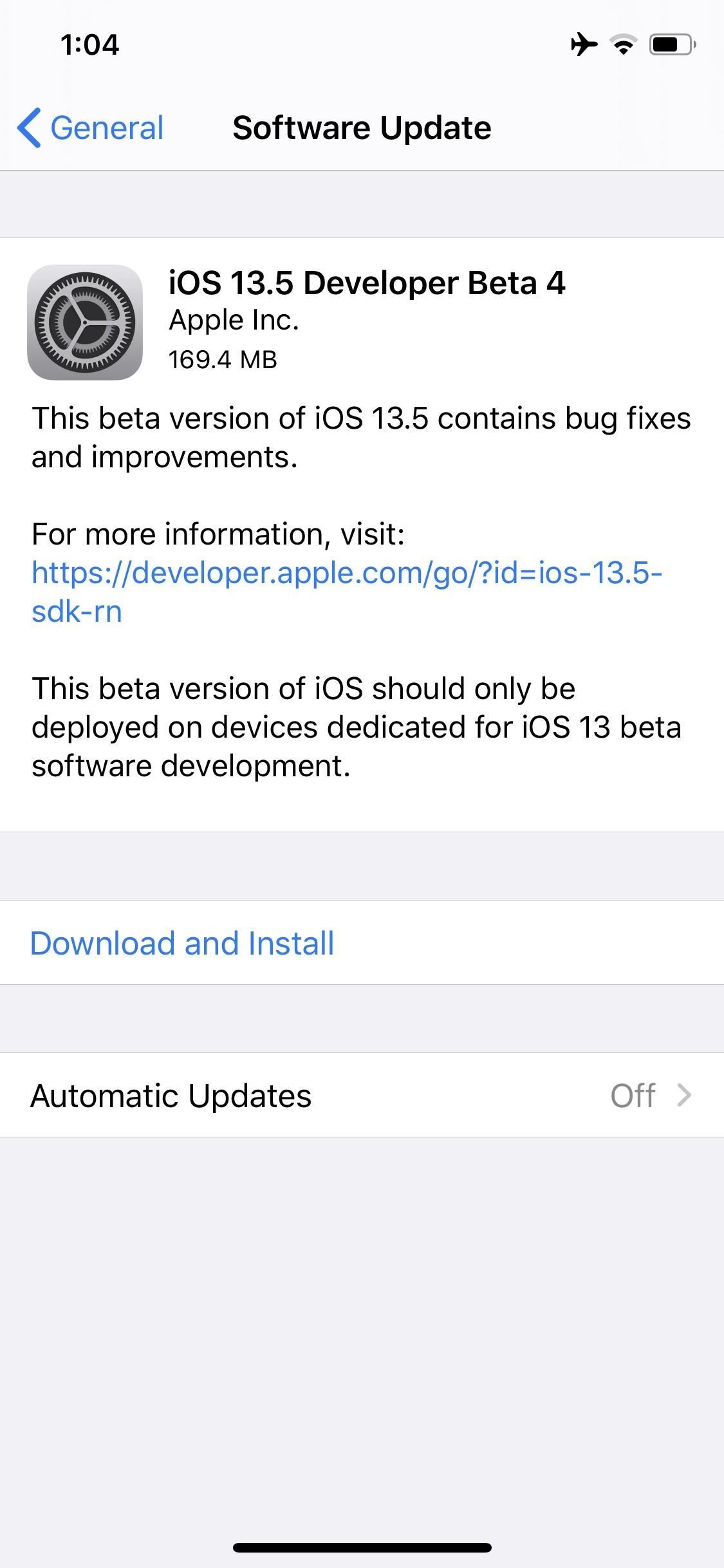 Apple Releases iOS 13.5 Developer Beta 4 for iPhone, Includes Updated COVID-19 Exposure Logging Settings