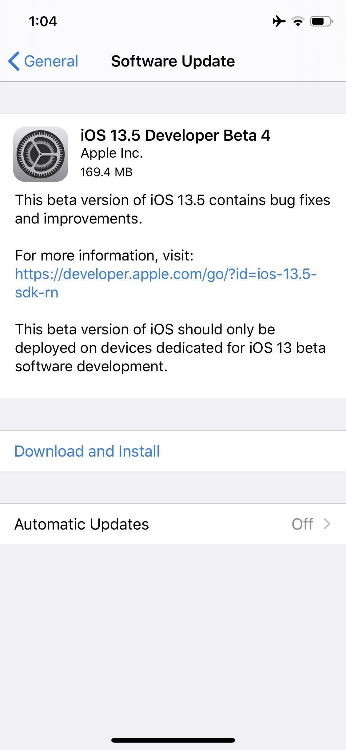 Apple Releases iOS 13.5 Developer Beta 4 for iPhone