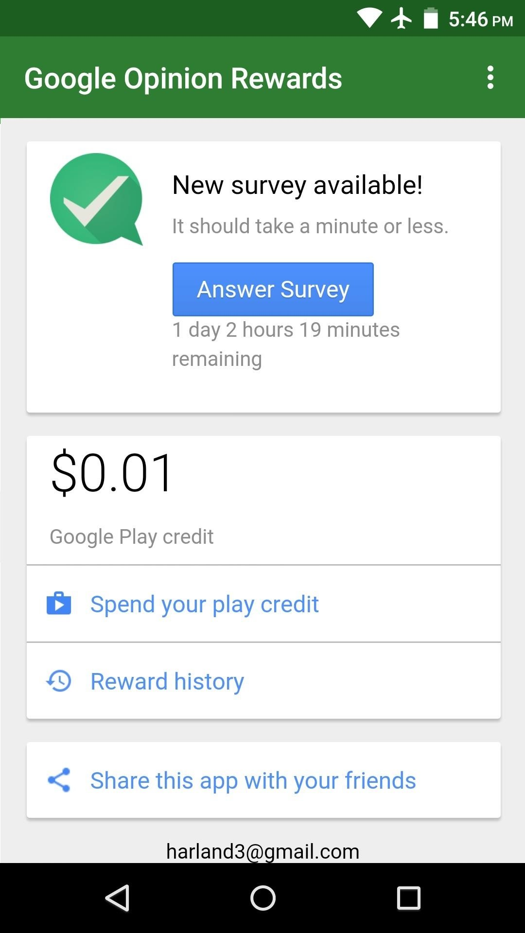 free google play credits