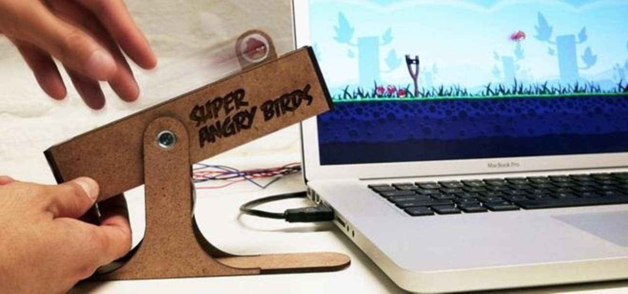 Take Your Angry Birds Game to the Next Level with This Haptic USB Slingshot Controller
