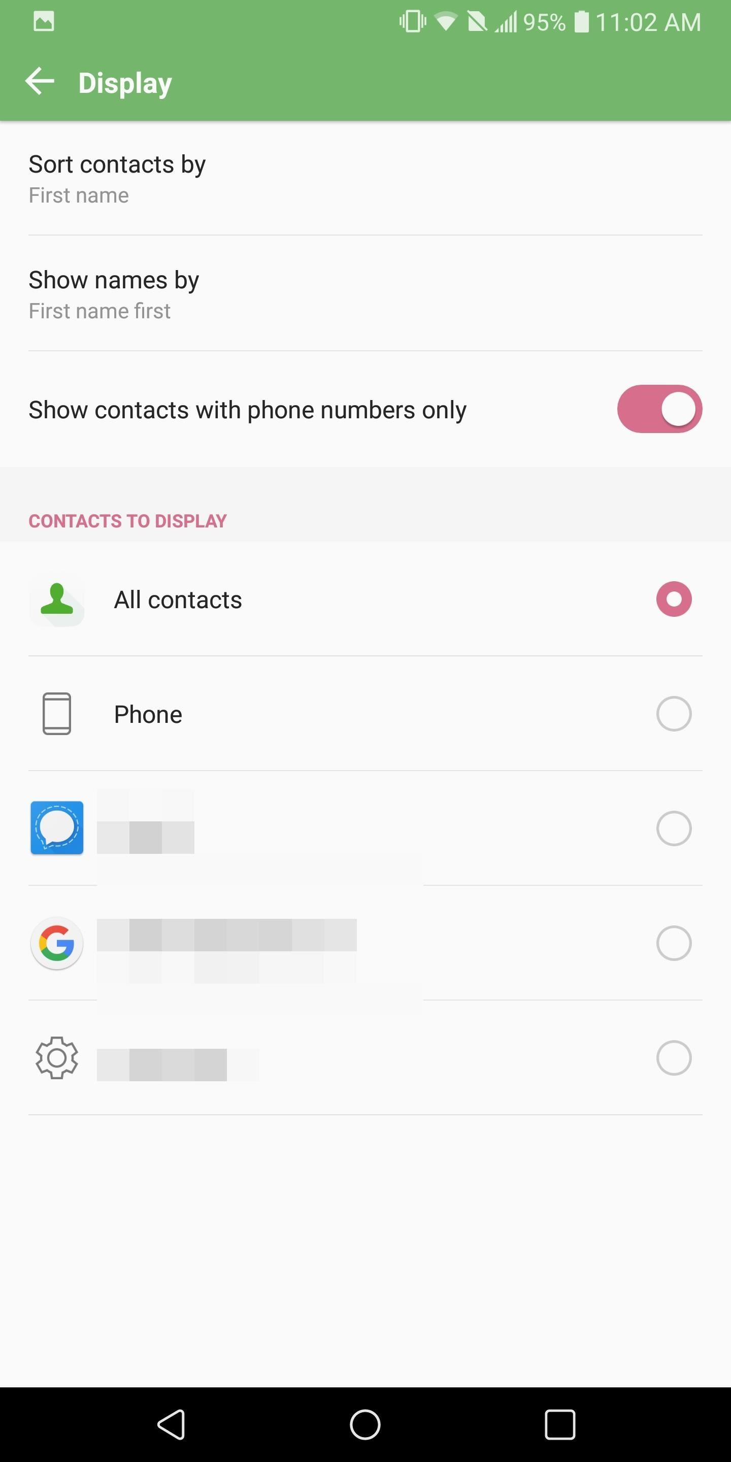 How to Hide Contacts That Don't Have Phone Numbers on Android