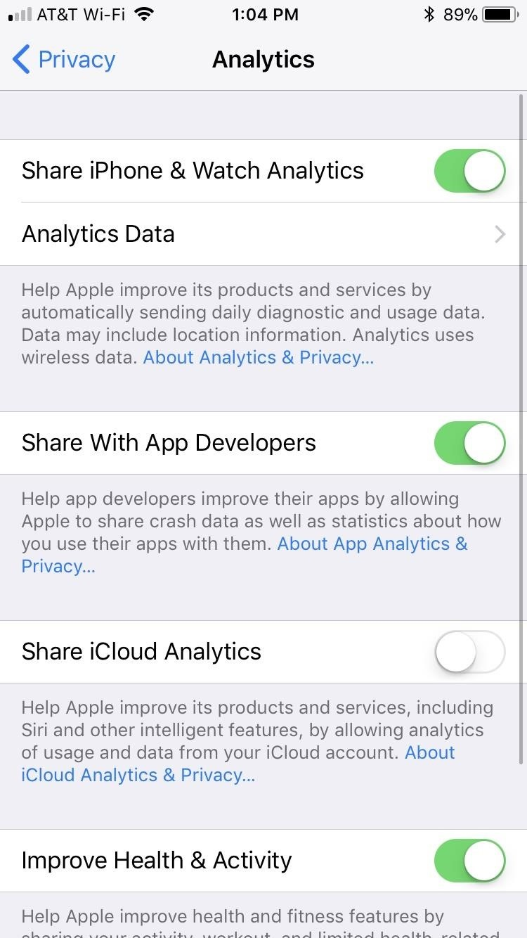 30 Privacy Settings in iOS 12 You should now check