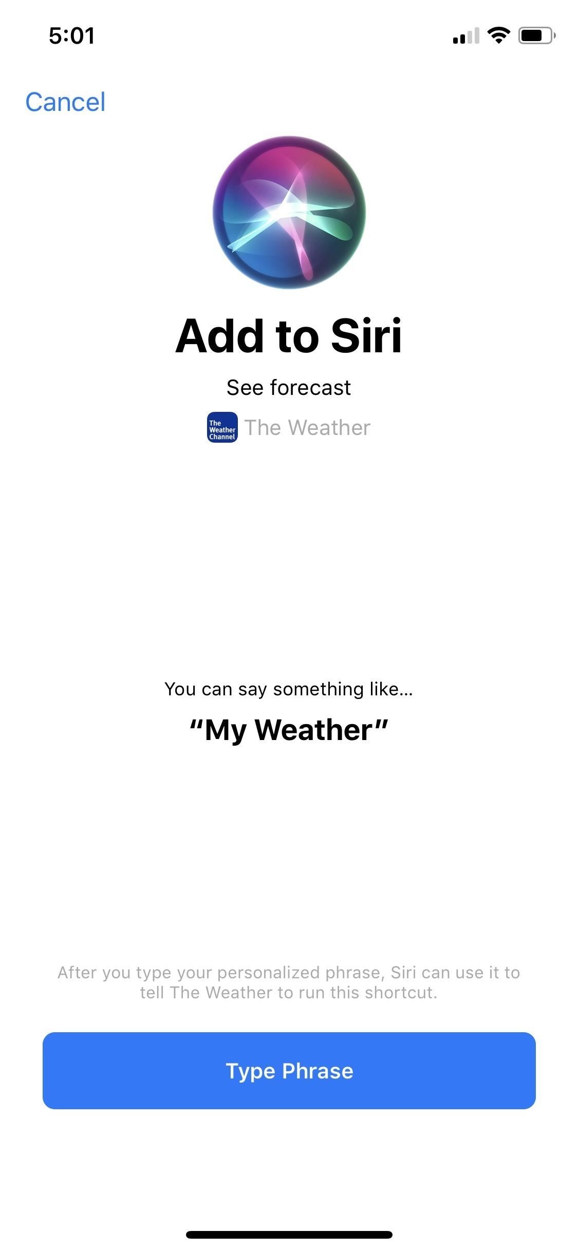 Using Siri with a third-party weather app instead of Apple's on your iPhone