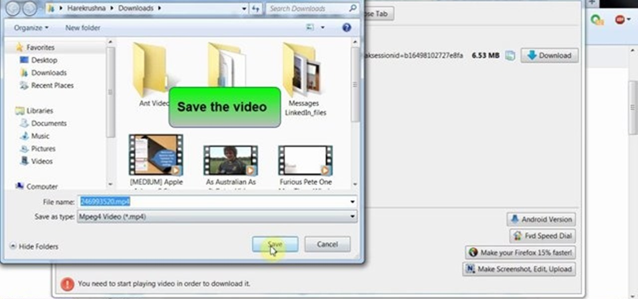 Download Any Video from Any Site from Firefox