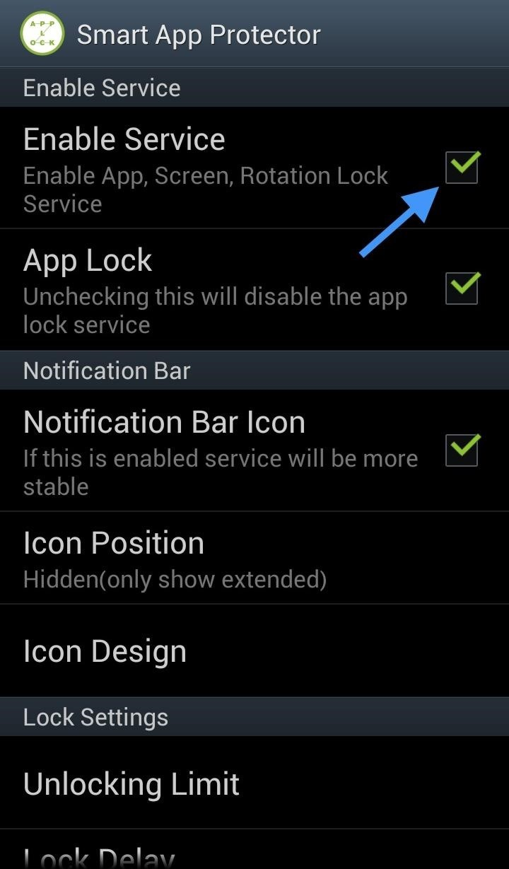 How to lock individual apps to prevent friends from snooping on your first make sure to enable the application by either enabling it in the settings or hitting the red dot on the home screen when enabled the dot will turn buycottarizona Images